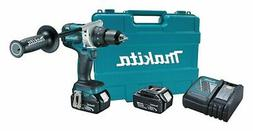 "Makita 1/2"" Cordless Hammer Drill/Driver Kit, 18.0 Voltage,"