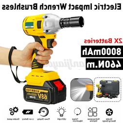 1/2'' Electric Cordless Impact Wrench Brushless Drill 460Nm/