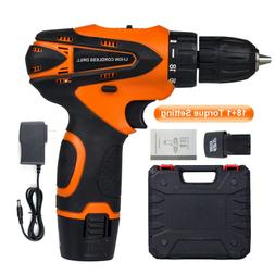 12 V drill 2 Speed Electric Cordless Drill/Driver Set & 2 Ba