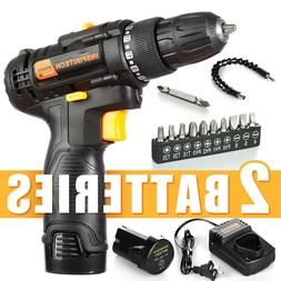 12 V drill 2 Speed Electric Cordless Drill/Driver with Bits