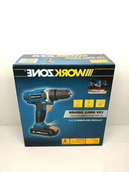 12 Volt Cordless Drill/Driver w/LED Light, Includes Lithium