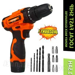 12-Volt drill 2 Speed Electric Cordless Drill / Driver with