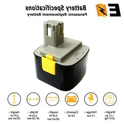 12V 3000mAh Battery for PANASONIC EY9005B EY9006B EY9106 Cor