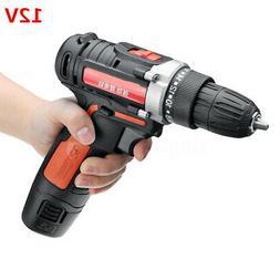 12V 2 Speed Cordless Drill Driver Screwdriver Tool Kit Detac