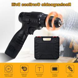 """12V Cordless Drill 3/8"""" Electric Screwdriver Drill Driver +"""
