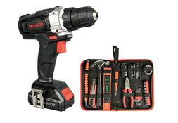 12V Cordless Drill, 1-Speed 21+1 Drill keyless Clutch With L