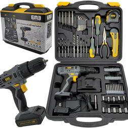 Litheli 20V Cordless Drill Driver Kit A 1300mA Battery 77 Pi