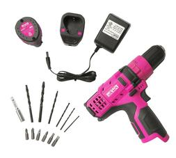 The Original Pink Box 12V Li-Ion Cordless Drill with Impact