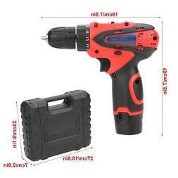 12V Rechargeable Electric Cordless Hand Drill Lithium Screwd