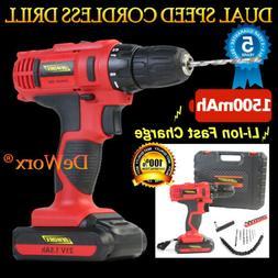 "18+1 Torque 21V Li-Ion 1/2"" Compact Cordless Drill Driver Co"