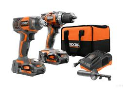 18-V Cordless Drill/Driver and Impact Driver Combo Kit w/2 B