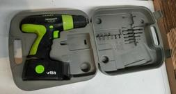 Kawasaki 18-Volt Cordless Drill with Battery and Case Needs