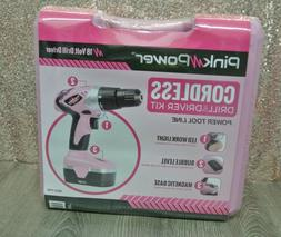 Pink Power 18 Volt Cordless Lithium Ion Drill PP182 Kit ----