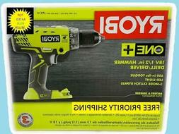 RYOBI 18-Volt ONE+ Cordless 1/2 in. Hammer Drill/Driver  wit