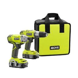 18-Volt ONE+ Lithium-Ion Cordless Drill/Driver and Impact Dr