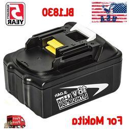 For Makita 18V 3.0Ah Li-Ion BL1840 Cordless Battery BL1830 B