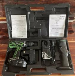 Hitachi 18V Combo Set~Drill Driver-Flashlight-2 Batteries-Ch