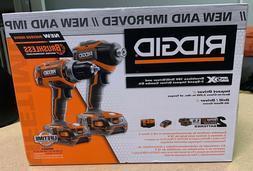 RIDGID 18V Cordless Brushless Drill Driver & Impact Driver C