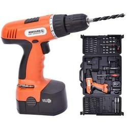 Goplus 18V Cordless Drill Driver Set with 78-Piece, 16 Posit