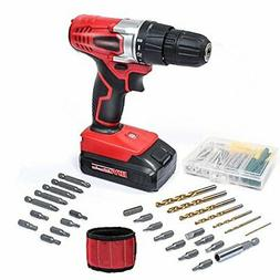WORKSITE 18V Cordless Electric Drill ScrewDriver with 1300mA