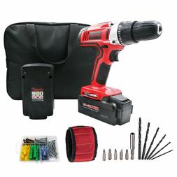 WORKSITE 18V Cordless Electric Drill Screwdriver with 2 1200
