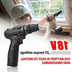 18V High-power Impact Cordless Hand Drill Home DIY Electric