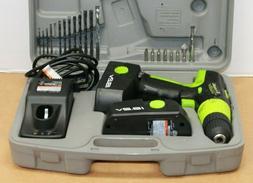 Kawasaki 19.2 Cordless Drill Set Charger Two Batteries Case