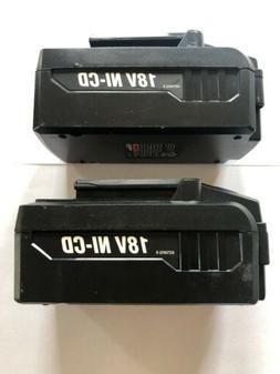 """2 Hyper Tough 18-Volt Ni-Cad 3/8"""" Cordless Drill Batteries"""