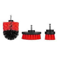 3 Piece 2/3.5/4 Inch Drill Powered Cleaning Brush Kit, Soft