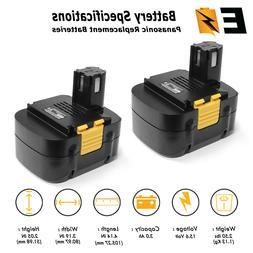 2 Battery for PANASONIC 15.6V 15.6 VOLT Cordless Drill