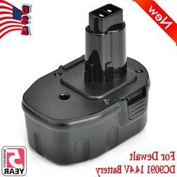 2 New 14.4V NI-CD Battery for DEWALT 14.4 VOLT DC9091 DW9091