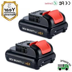 2 Pack 12V MAX Lithium ion Replacement Battery for Dewalt DC
