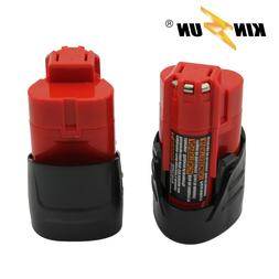 KINSUN 2-Pack Replacement Power Tool Battery 12V 1.5Ah Li-Io