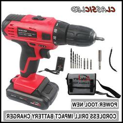 20V 3/8 inch chuck Cordless Drill Electric Driver set Power