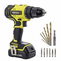 CACOOP 20V Brushless Cordless Drill/Driver Set, Includes 1)1