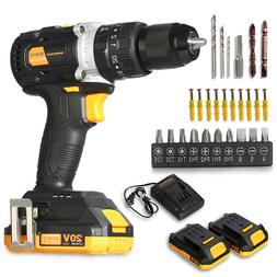 20V Brushless Motor Cordless Hammer Drill/Driver with Bits S