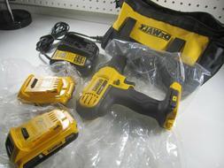 """DEWALT 20V Cordless 1/2"""" Drill - Charger Combo Kit Lightweig"""