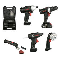 20V Cordless Combo kit Impact Drill Driver Head Flashlight G