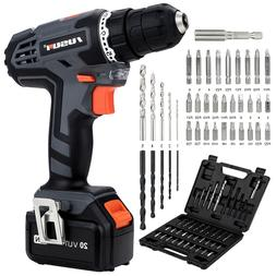 20V Cordless Drill/Driver & Impact Driver with Bits Set & 2.