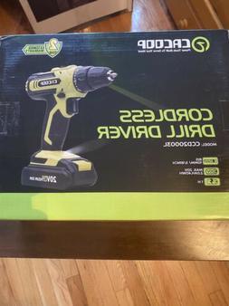 CACOOP 20V Cordless Drill Driver Kit, Power Drill w/ 2000mAh