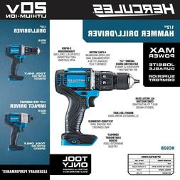 Hercules 20V Lithium Cordless 1/2 In. Compact Drill/Driver K