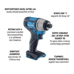 20V Lithium Cordless 1/4 in Hex Compact Impact Driver Kit Ch