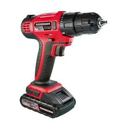 Powerbuilt 20V Lithium-Ion Cordless Drill and Bits Kit with
