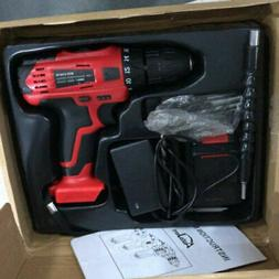 20V Cordless Drill Driver Power Tool Li-Ion battery 3/8 Chuc
