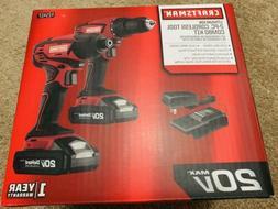 Craftsman 20V MAX Cordless Drill and Impact Driver Combo Kit
