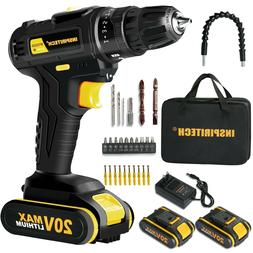 20Volt drill 2 Speed Electric Cordless Drill/Driver with Bit