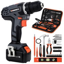 21-Volt drill Electric Cordless Drill/Driver with49 Bits Set