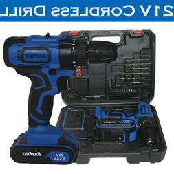 21v cordless combi drill driver electric battery