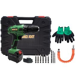21v Cordless Drill Drilling/Screwing with Drive Bits Drill B