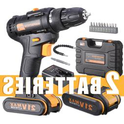 21 V drill 2 Speed Electric Cordless Drill/Driver with Bits